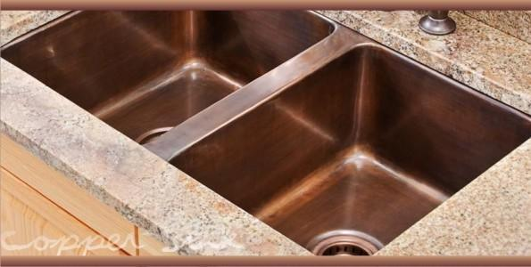 buy quality drop in kitchen copper sinks - CopperSinksCentral.com