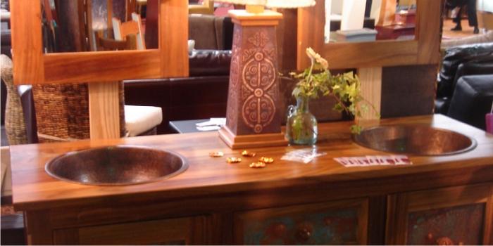 high design copper sinks